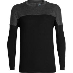 Icebreaker Kinetica LS Crewe Shirt Men black/black heather